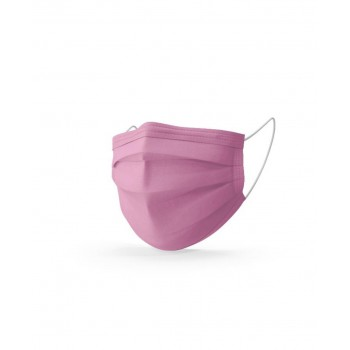 Mediroc Masque Rose chirurgical 3 plis Type 2R - Boîte de 10 masques