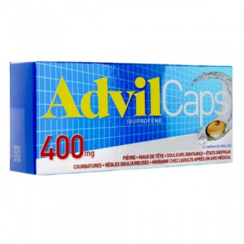 ADVILCAPS 400MG BTE 14 CAPS