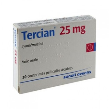 TERCIAN 25MG BTE 30 CPR-DOTATION-