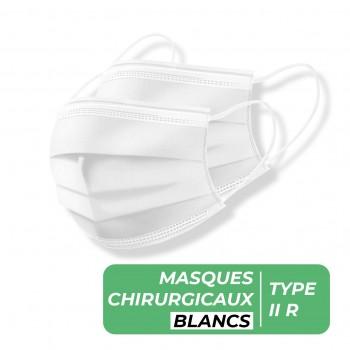Masque chirurgical Type 2R Blanc - Boîte de 50 masques