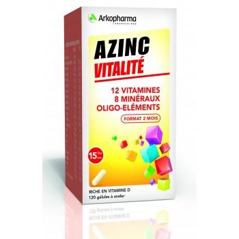 AZINC FORME VITALITE GEL DES 15ANS FL/120