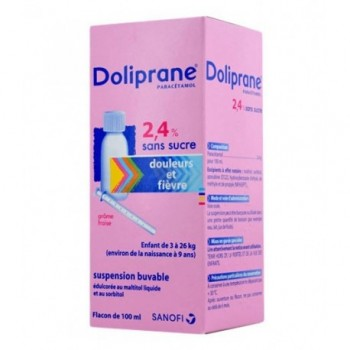 DOLIPRANE 2,4% SUSP BUV 100ML CS-24--NXP COVID--