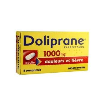 DOLIPRANE ADULTE 1000MG BTE 8 CPR CS-160--NXP COVID--