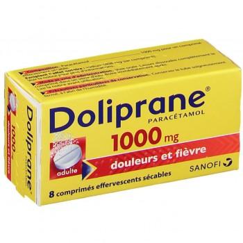 DOLIPRANE ADULTE 1000MG EFF TUBE 8 CPR CS-128--NXP COVID--
