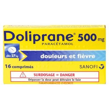 DOLIPRANE ADULTE 500MG BTE 16 CPR CS-160--NXP COVID--