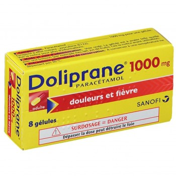DOLIPRANE ADULTE 1000MG - Carton 240 x DOLIPRANE ADULTE 1000MG BTE 8 GELU