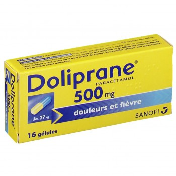 DOLIPRANE ADULTE 500MG BTE 16 GELU CS-160--NXP COVID--