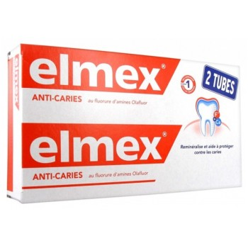 ELMEX DENTIFRICE ANTI-CARIES SENSITIVE LOT DE 2 TB/125ML