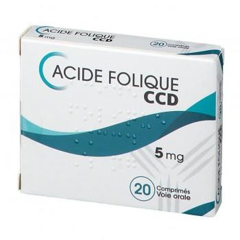 ACIDE FOLIQUE CCD 5MG CPR BT20