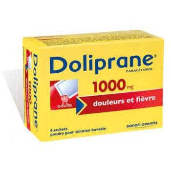 DOLIPRANE ADULTE 1000MG BUV BTE 8 SACHETS--NXP COVID--