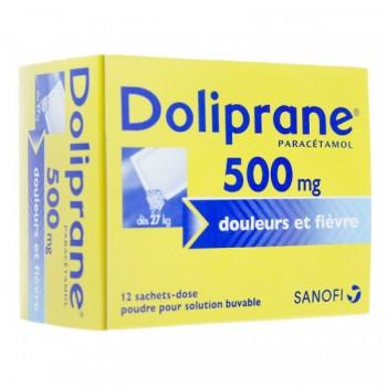 DOLIPRANE ADULTE 500MG POUD BTE 12 SACHETS--NXP COVID--