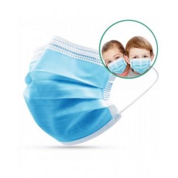 Masque Enfant chirurgical 3 plis Type 2R - Boîte de 50 masques