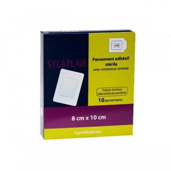 SYLAPLAIE  Pansement adhésif stérile 8 x 10 cm b/10