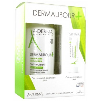 A-DERMA DERMALIBOUR + GEL MOUSSANT 125ML
