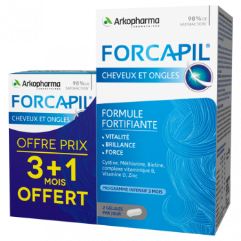 FORCAPIL FORTIF GEL CHEV ONGL PILUL/180+60